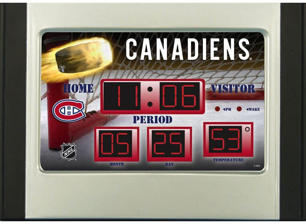 Montreal Canadiens Scoreboard Desk Clock