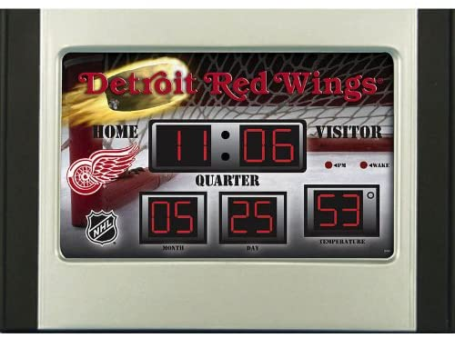 Detroit Redwings Scoreboard Desk Clock