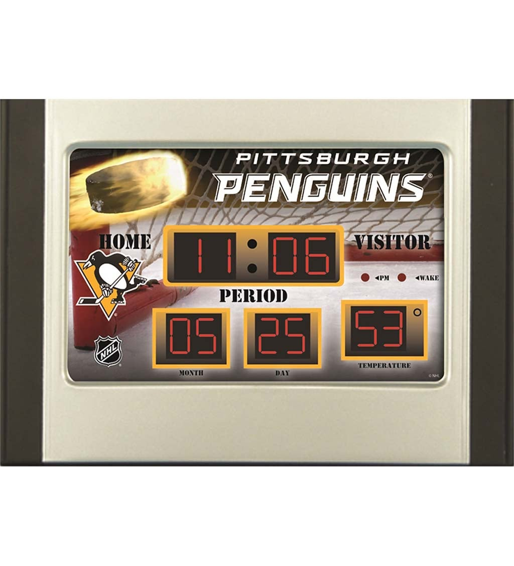 Pittsburgh Penguins Scoreboard Alarm Clock