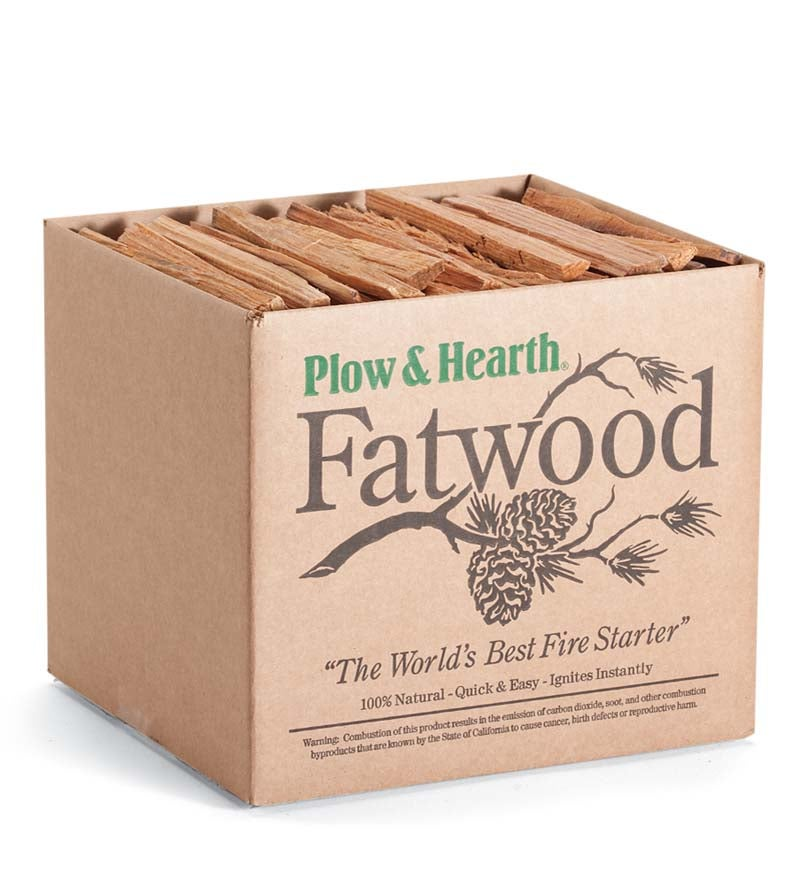 10 lb. Box of Fatwood Fire Starter - Resin Rich Easy Start Kindling