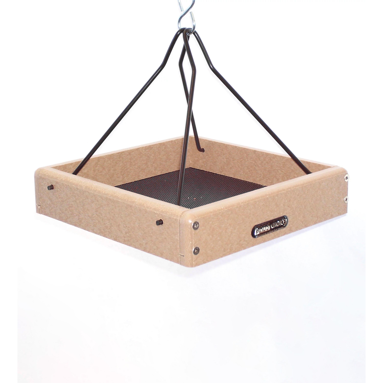Recycled Poly-Lumber Hanging Tray Platform Bird Feeder (Home & Garden Decor) photo