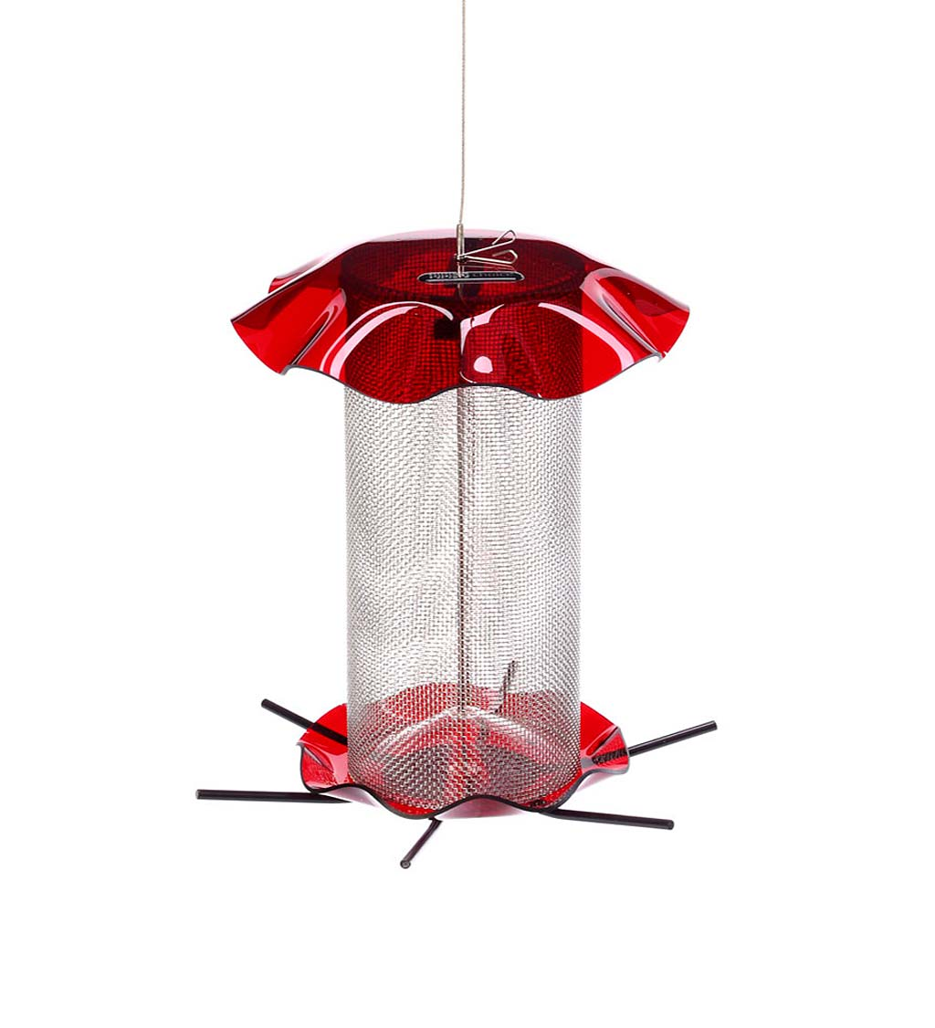 Acrylic and Stainless Steel Hanging Nyjer Bird Feeder (789453009272 Home & Garden Decor) photo