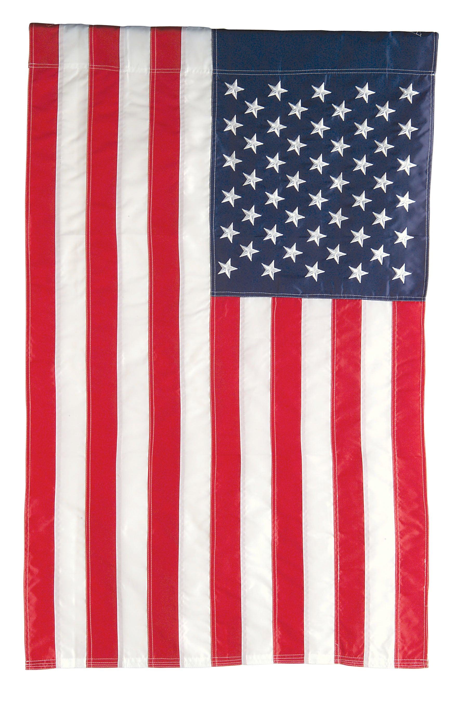 American Extra-Large Applique Estate Flag