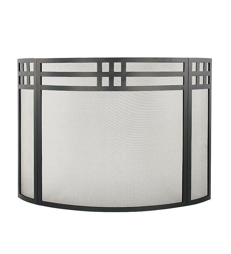 Wrought Iron Mission Style Folding Fireplace Screen