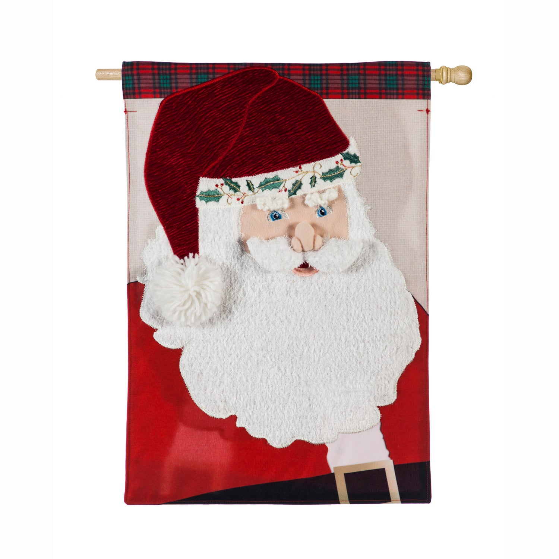 Santa Claus House Linen Flag