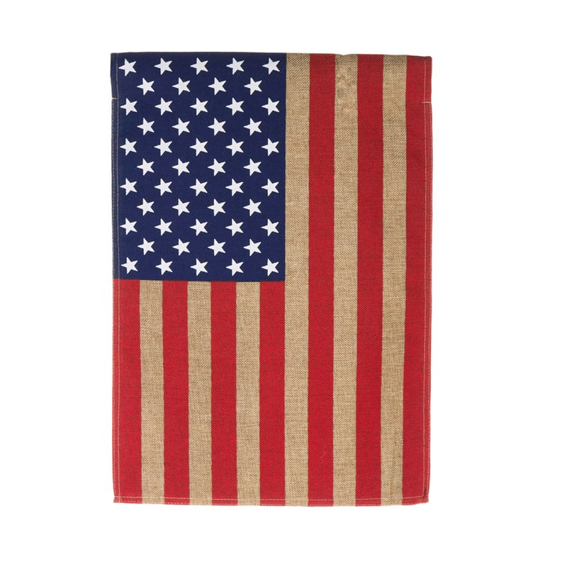 American Burlap Garden Flag