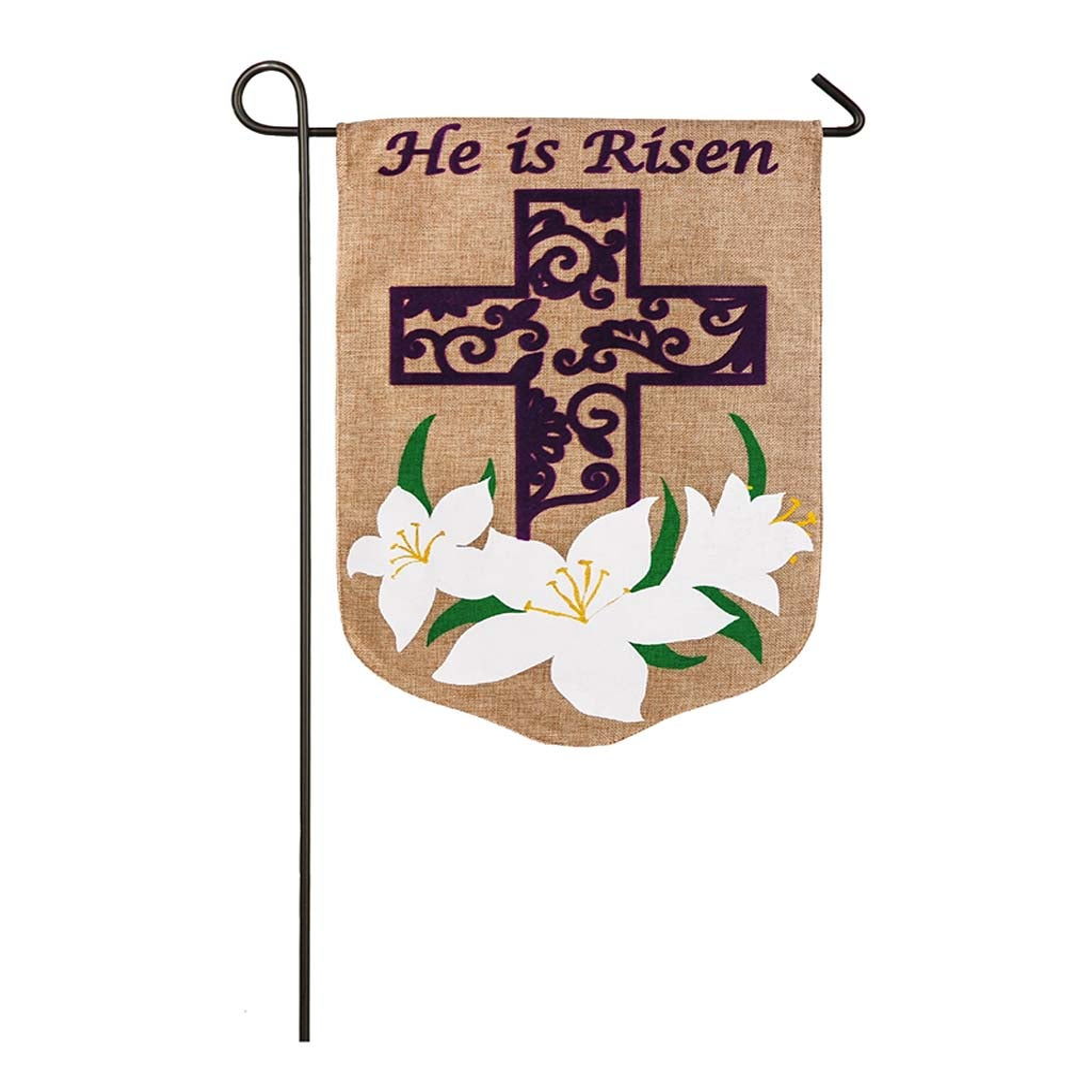 Easter Lily Burlap Garden Flag