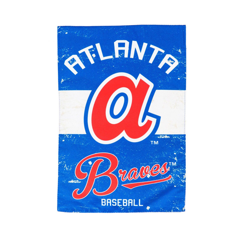 Atlanta Braves Vintage Linen Garden Flag