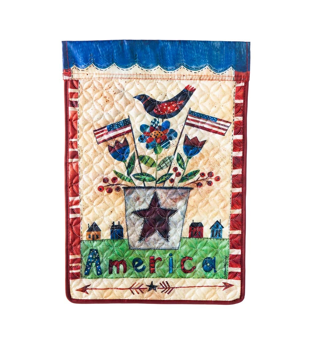America the Beautiful Garden Quilted Flag