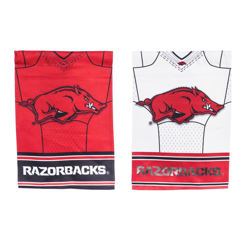 Arkansas Razorbacks Two Sided Jersey Garden Flag