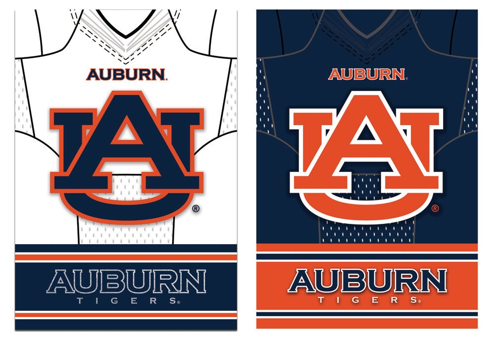 Auburn Tigers Double Sided Jersey Garden Flag