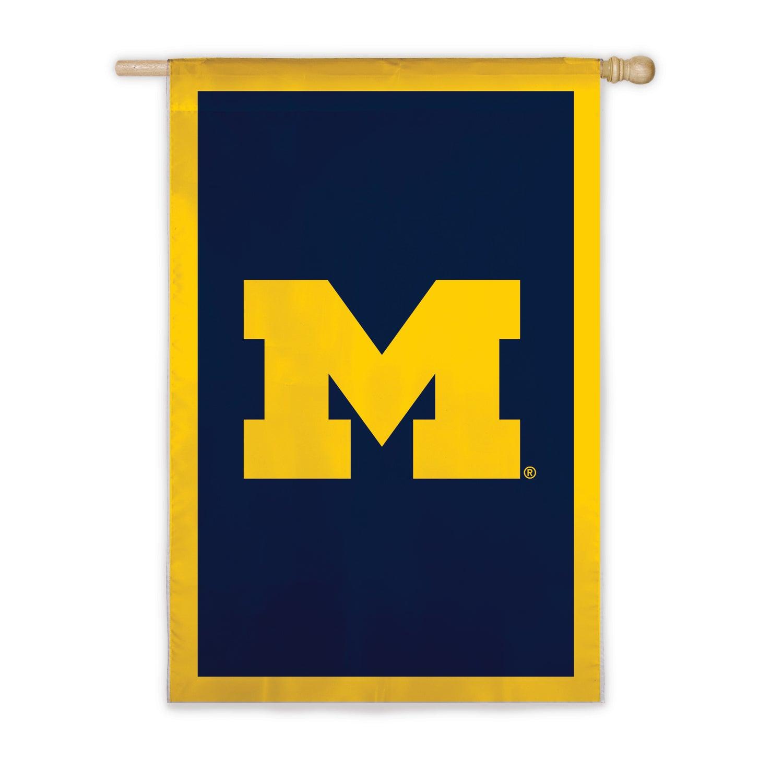 Applique House Flag Michigan State