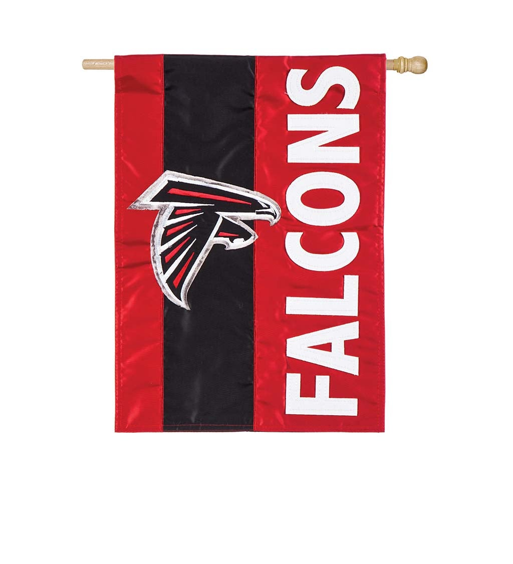 Atlanta Falcons Mixed-Material Embellished Appliqué House Flag
