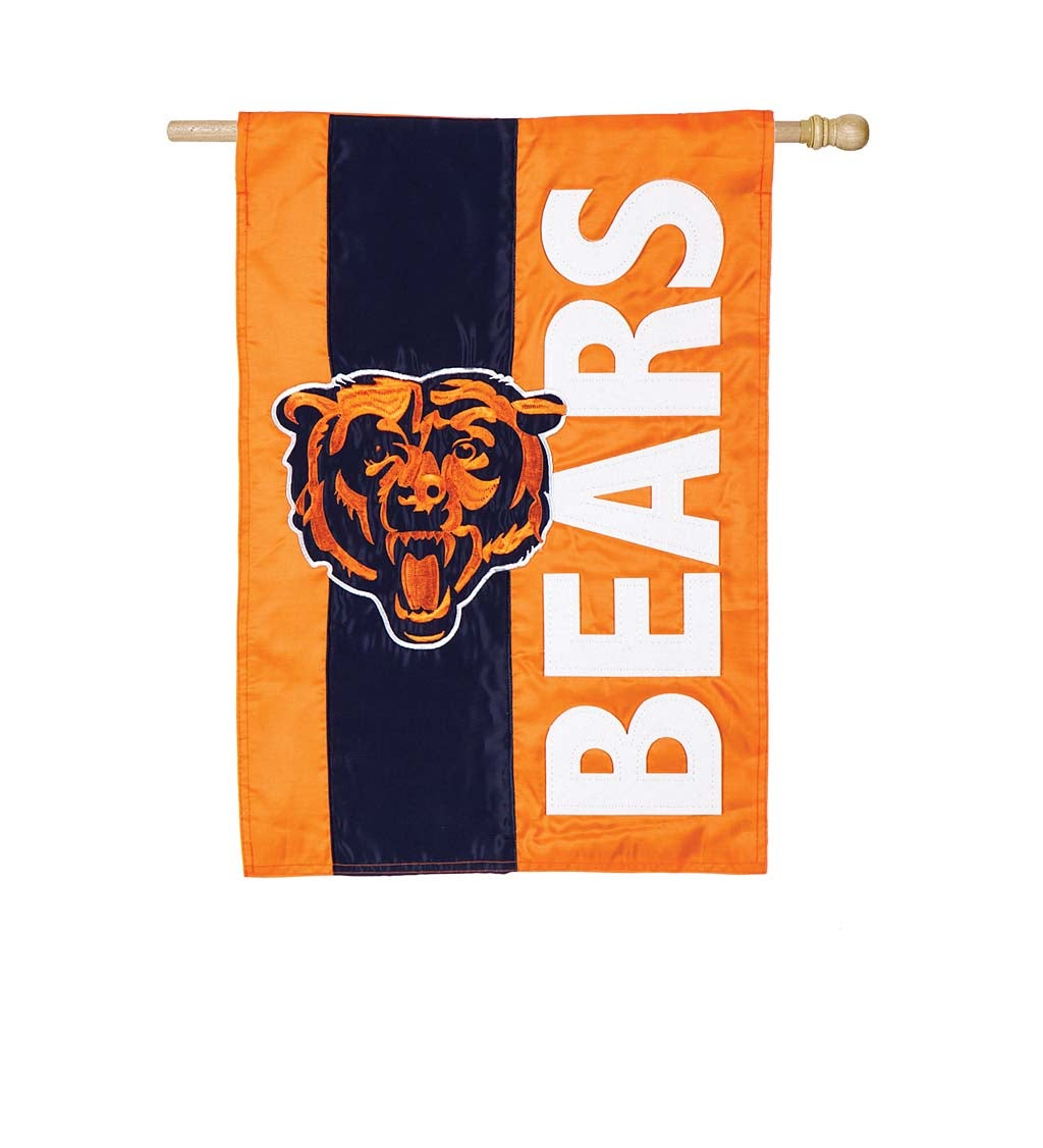 Chicago Bears Mixed-Material Embellished Appliqué House Flag
