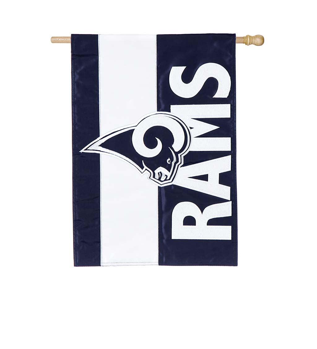 LA Rams Rams Embellished House Flag