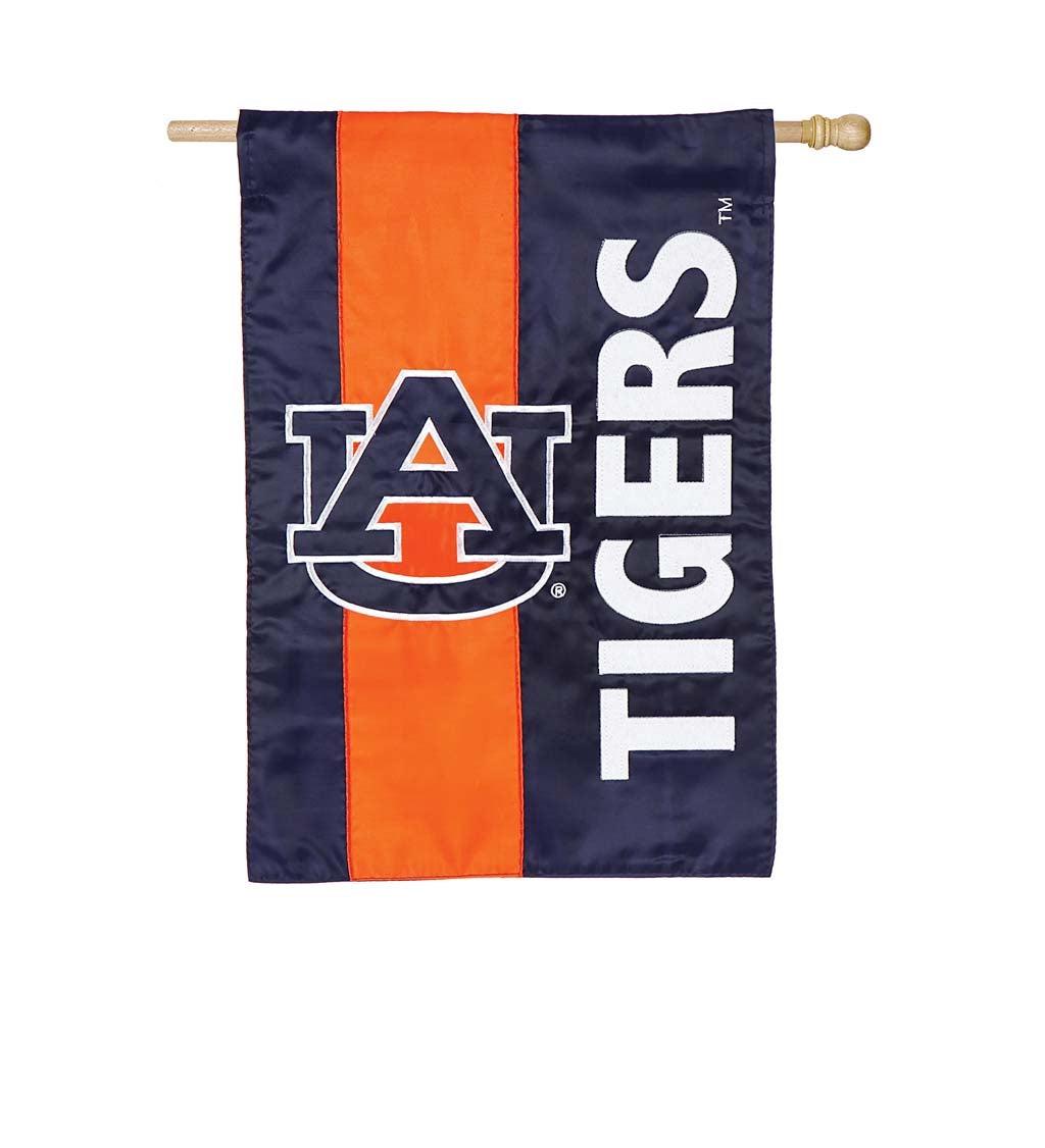 Auburn University Mixed-Material Embellished Appliqué House Flag