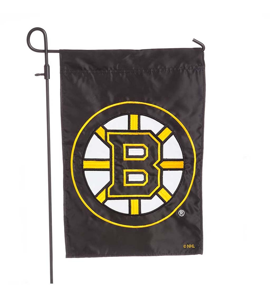 Boston Bruins Applique Garden Flag