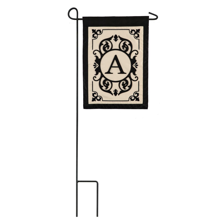 Cambridge Monogram Appliqué Garden Flag, Letter A