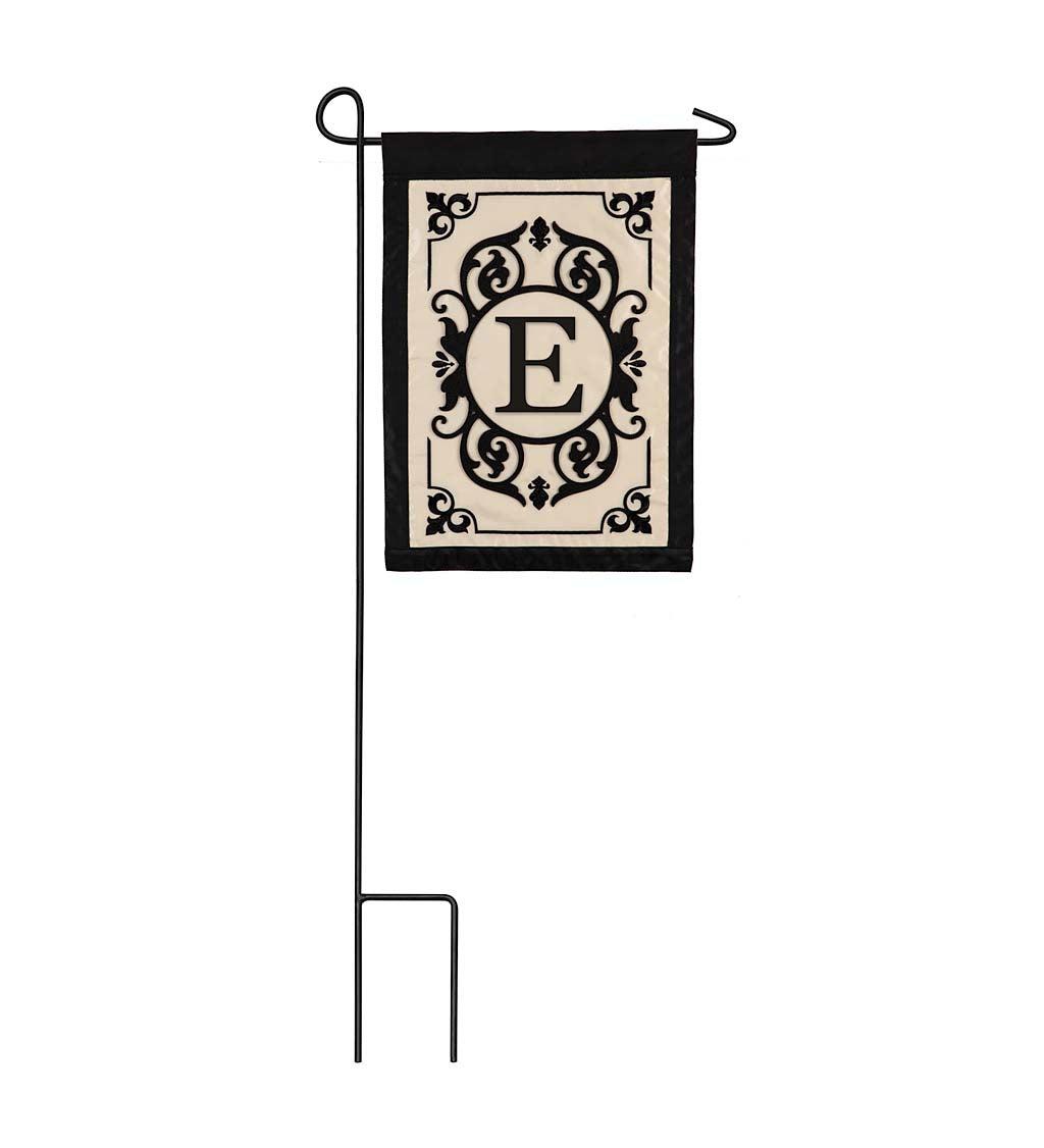 Cambridge Monogram Appliqué Garden Flag, Letter E