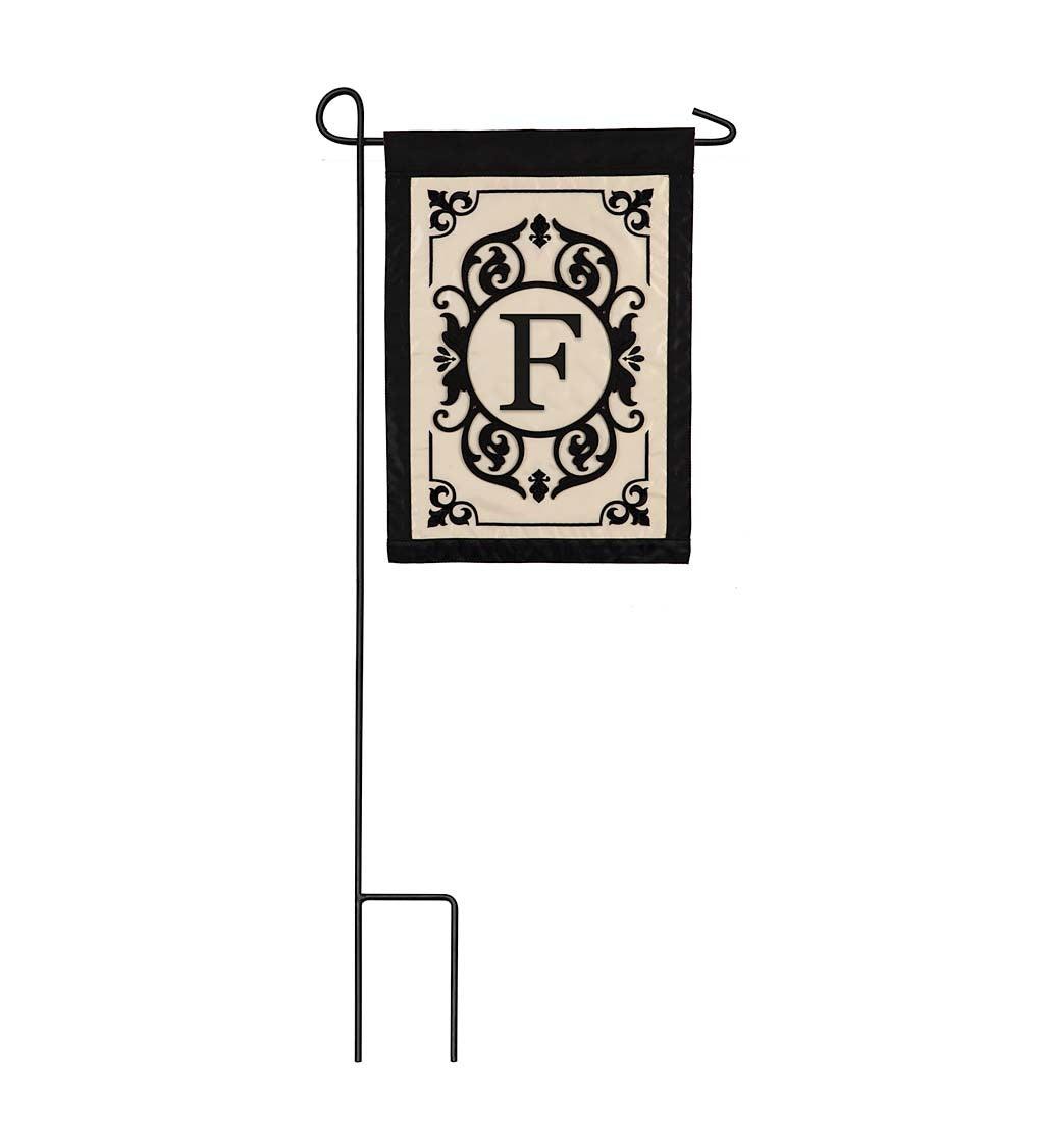 Cambridge Monogram Appliqué Garden Flag, Letter F