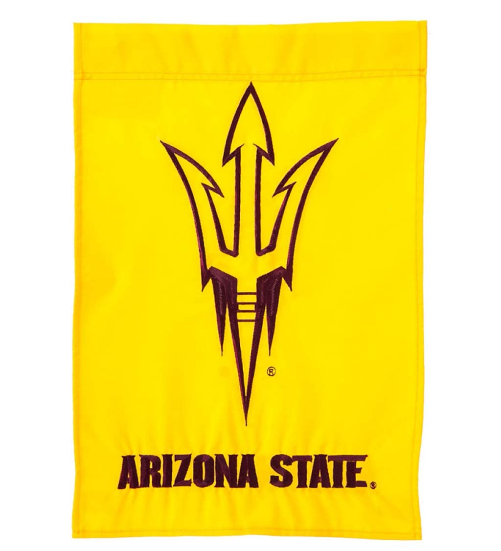 Arizona State Mixed-Material Embellished Appliqué Garden Flag