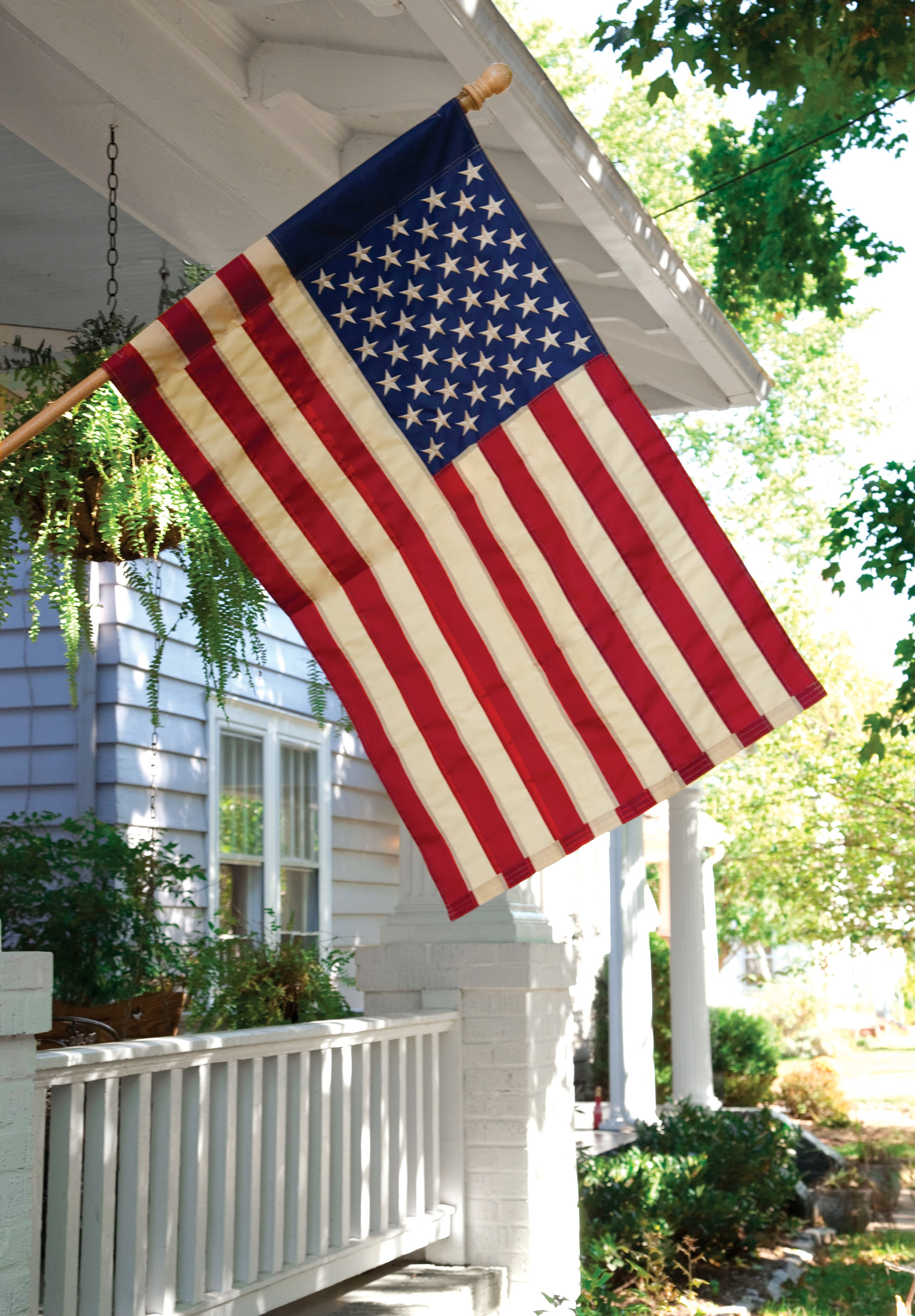 Tea-Stained American Garden Flag