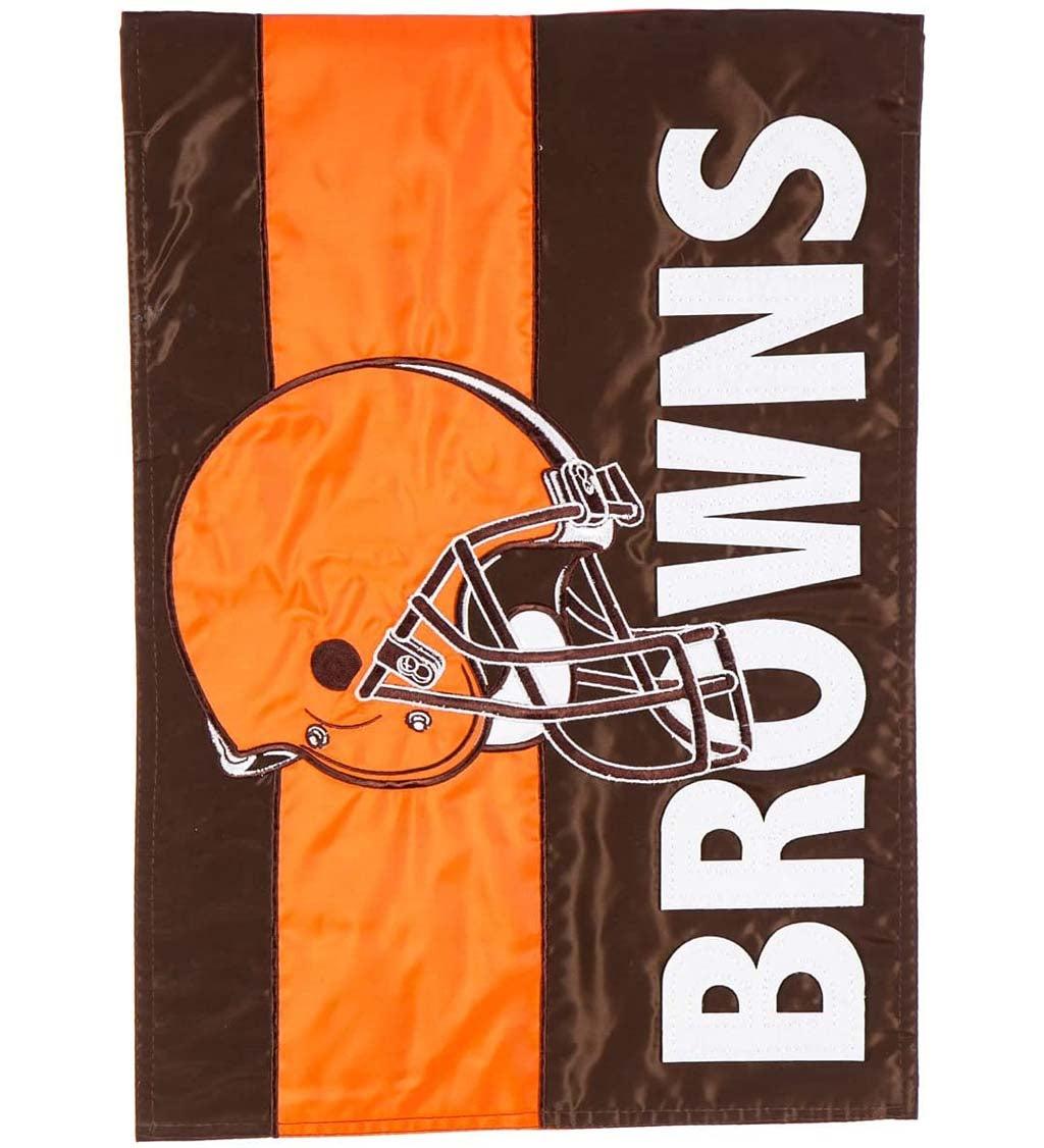 Cleveland Browns Embellished Garden Flag