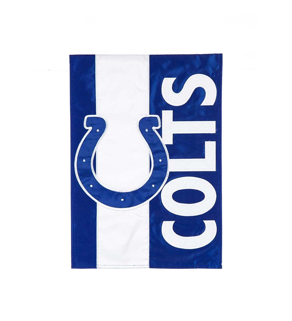 Indianapolis Colts Embellished Garden Flag