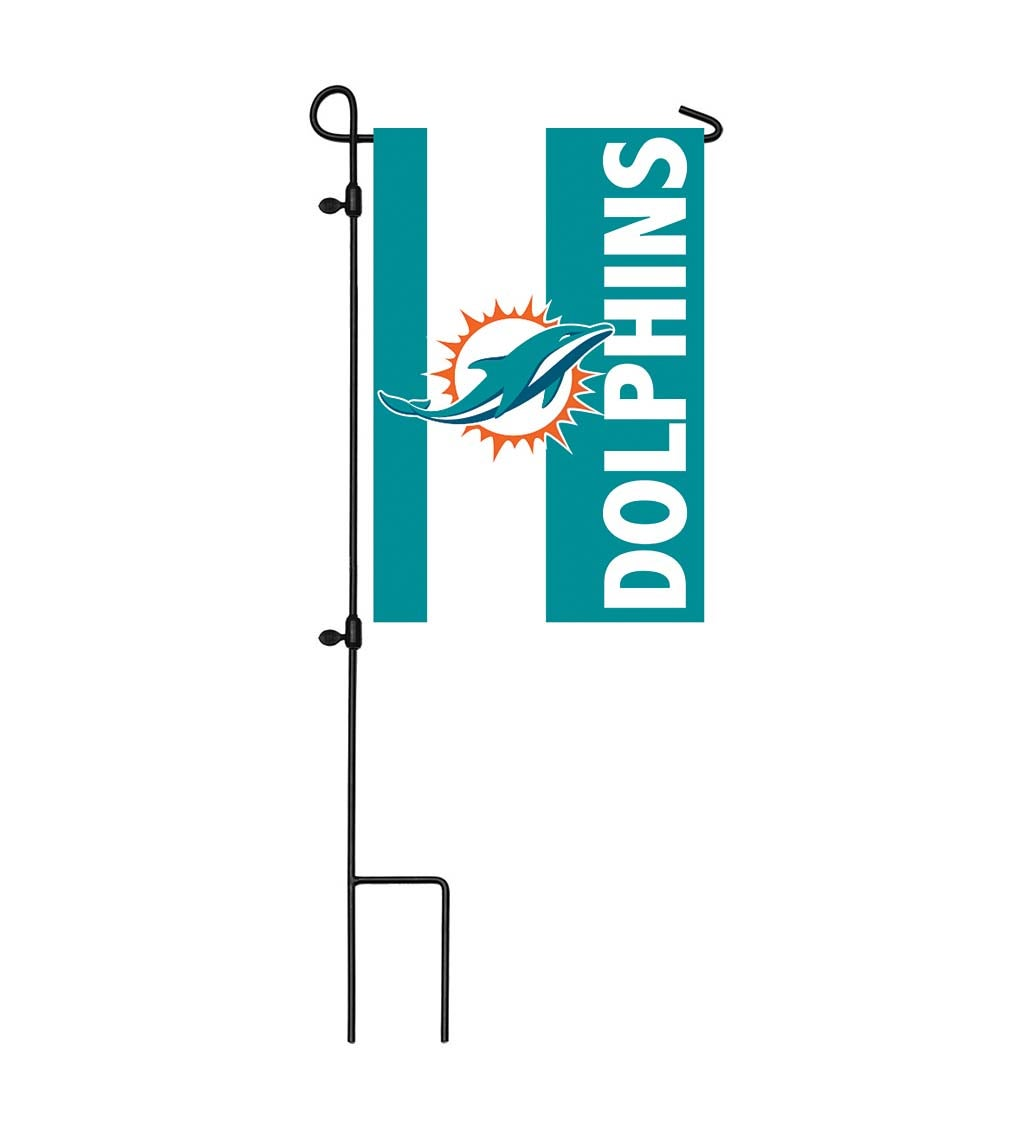 Miami Dolphins Mixed-Material Embellished Applique Garden Flag