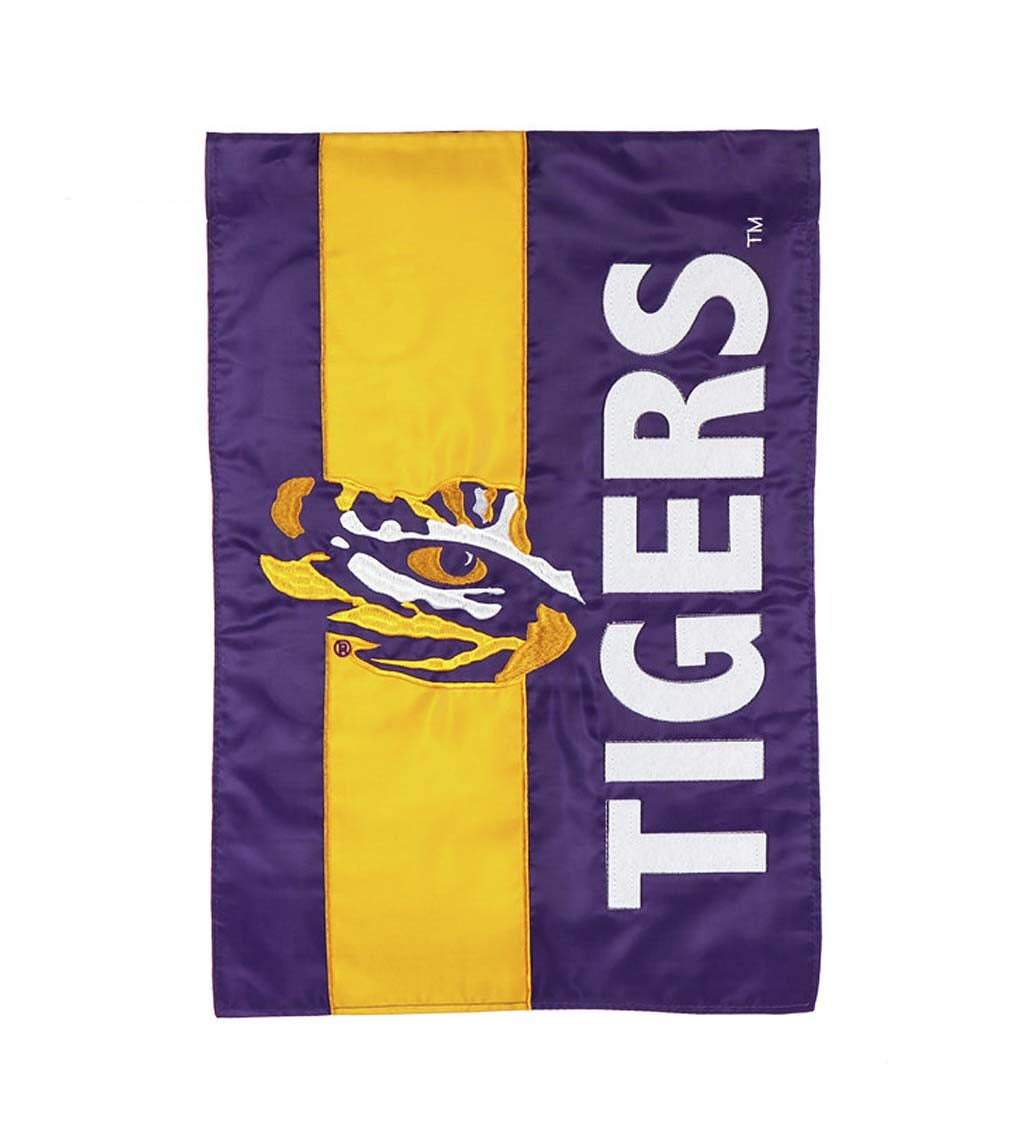 Louisiana State University Mixed-Material Embellished Appliqué Garden Flag