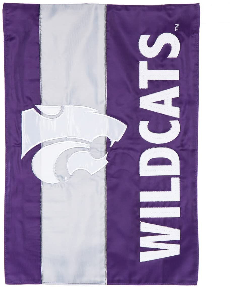 Kansas State University Mixed-Material Embellished Appliqué Garden Flag
