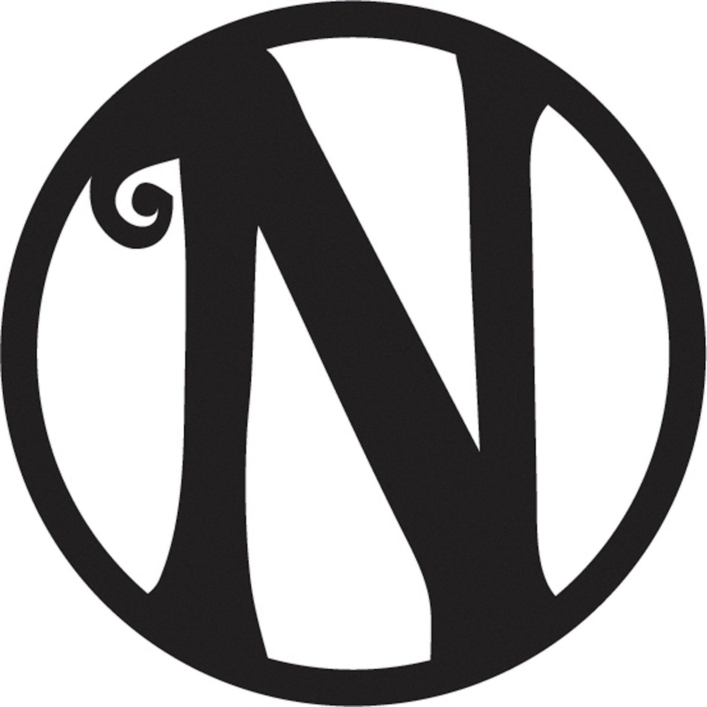 """10"""" Pin-On Black Embossed Letter Perfect Felt Door Décor Monogram, Letter N"""