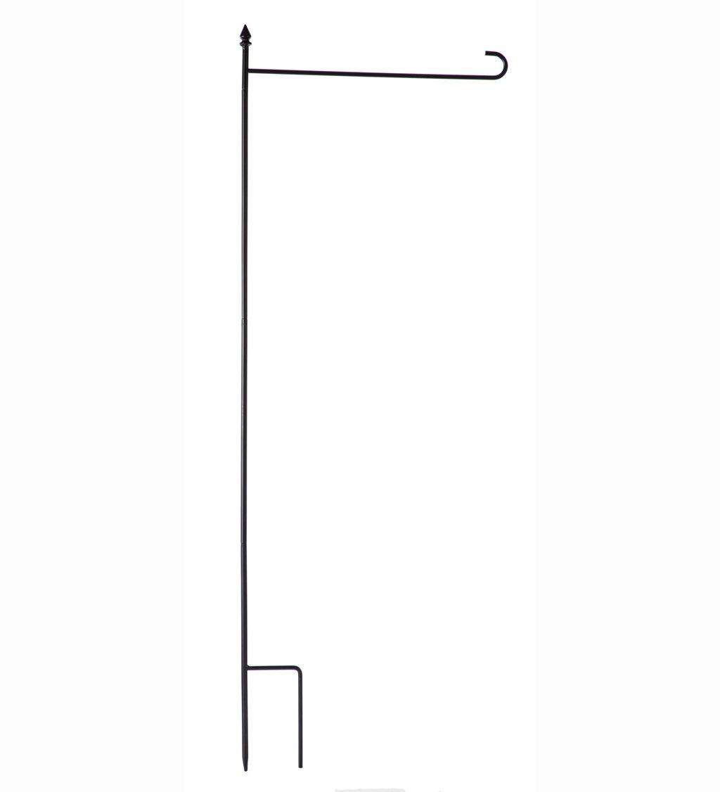 4-Piece Metal Garden Flag Stand