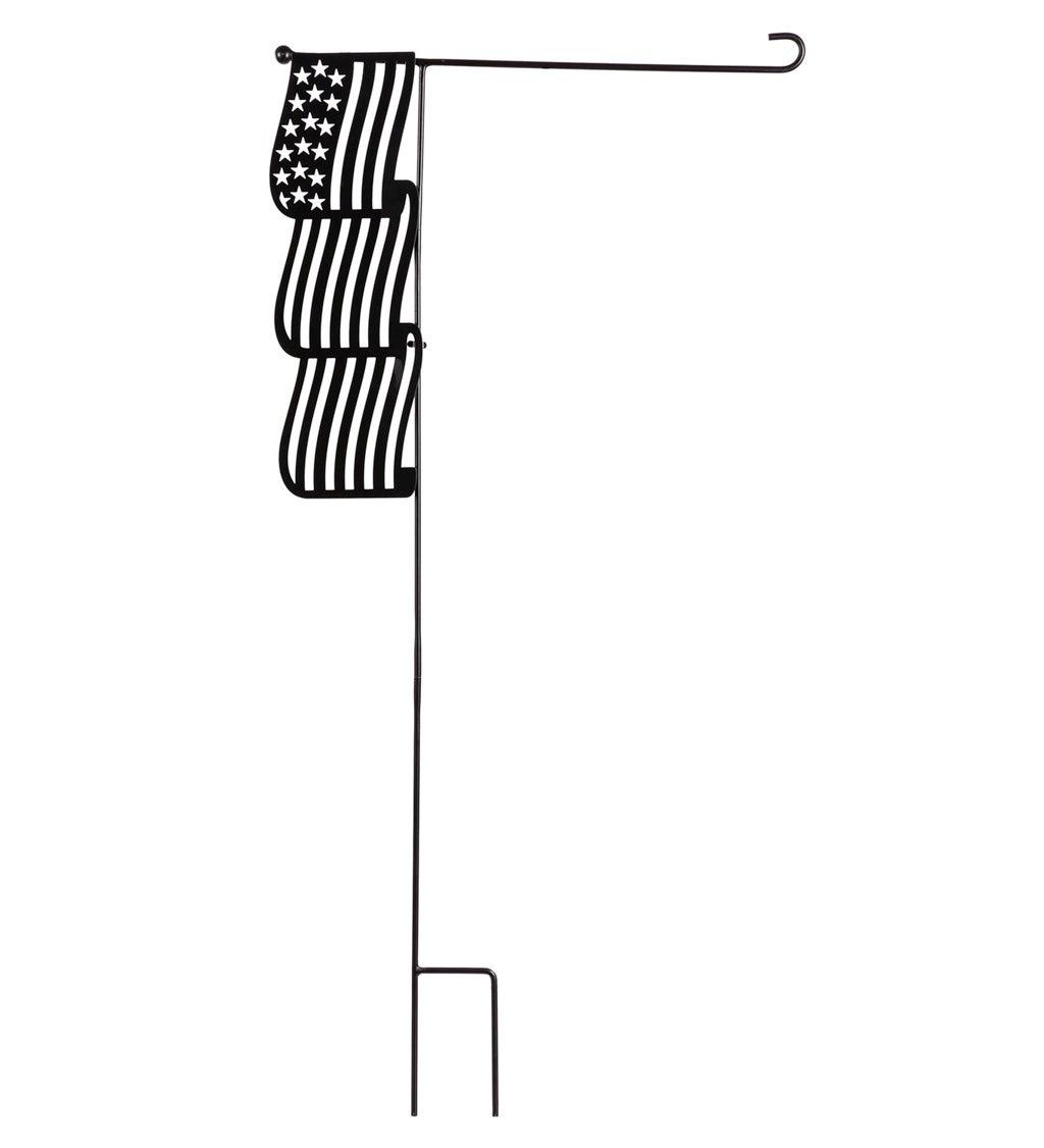 American Flag Laser Cut Garden Flag Stand