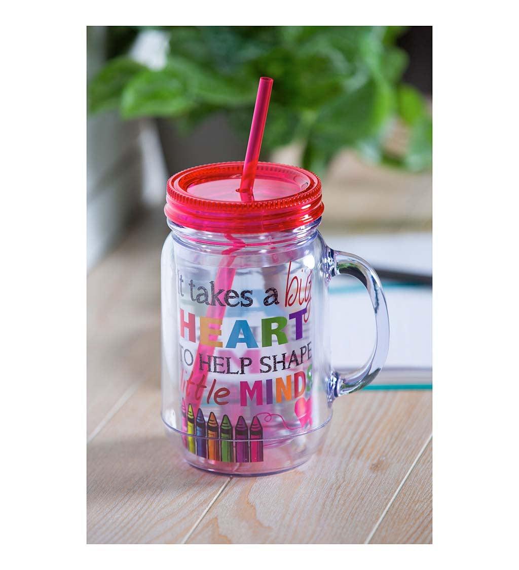 It Takes a Big Heart Double-Walled Acrylic Mason Jar Beverage Holder