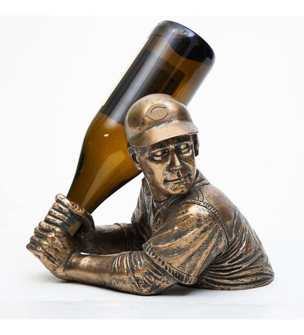 Cincinnati Reds Bam Vino Baseball Player Wine Bottle Holder