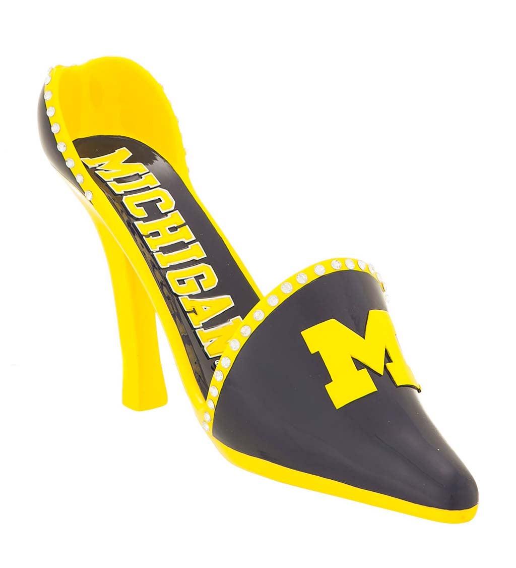 University Of Michigan Decorative High Heel Shoe Wine Bottle Holder