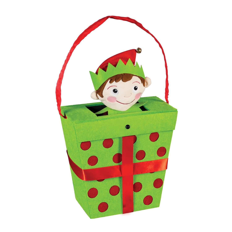 Elf In A Gift Box Motion Door Décor