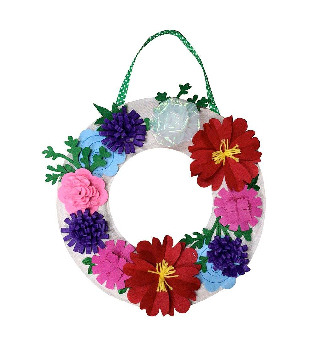 Floral Wreath Letter Perfect Felt Door Décor