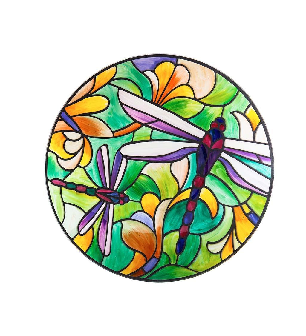 "18"" Dragonfly Art Nouveau Bird Bath"