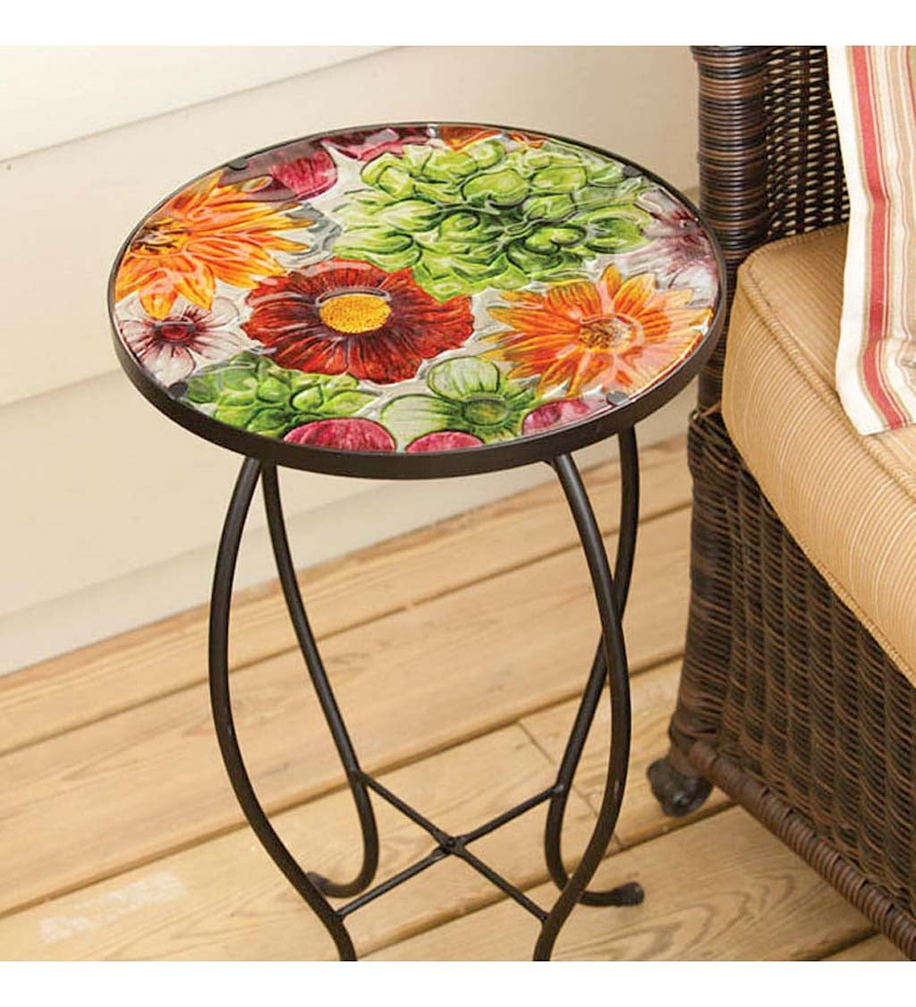 Summer Splash Round Glass Table