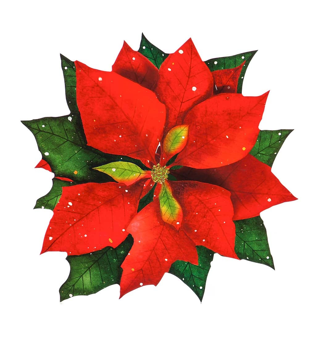 Vinyl Coated Solid Poinsettia Placemat Set of 4