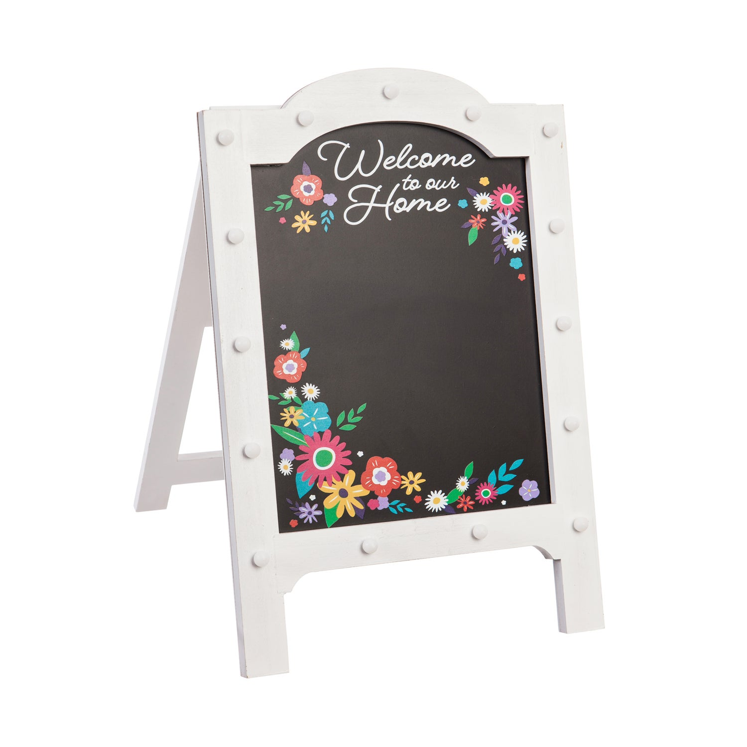 Welcome to our Home Lighted Easel Sign Outdoor Porch Decor