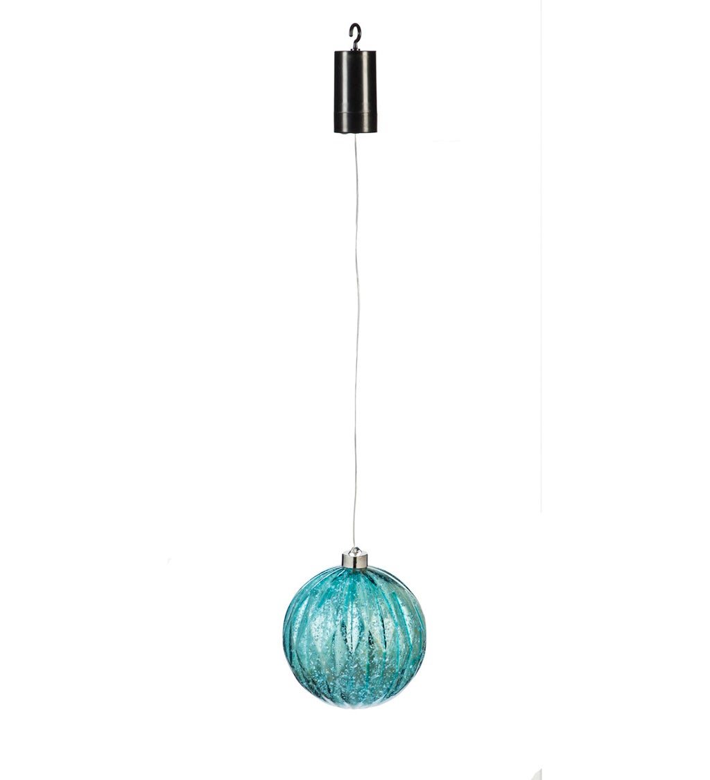 """6"""" Shatterproof Outdoor Safe Battery Operated LED Ornament, Baby Blue"""