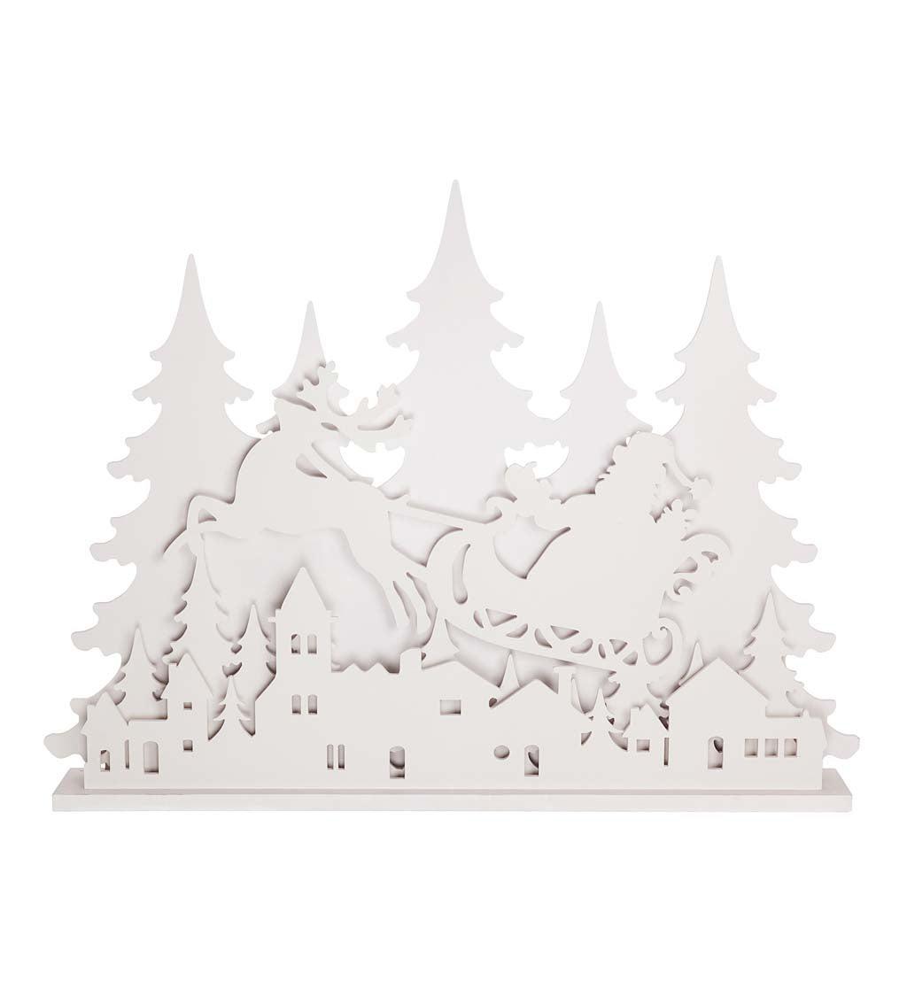 "35.5""H LED Polywood Garden Statuary, Santa's Sled"
