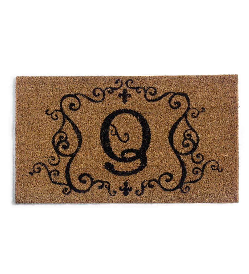 Embossed Monogram Coir Mat, Letter Q