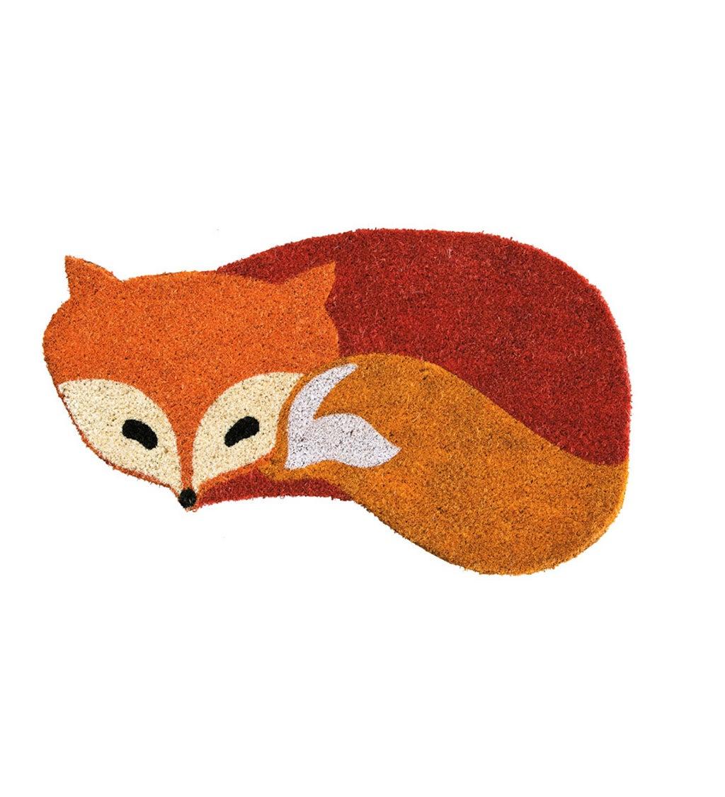 Fox-Shaped Welcome Coir Doormat