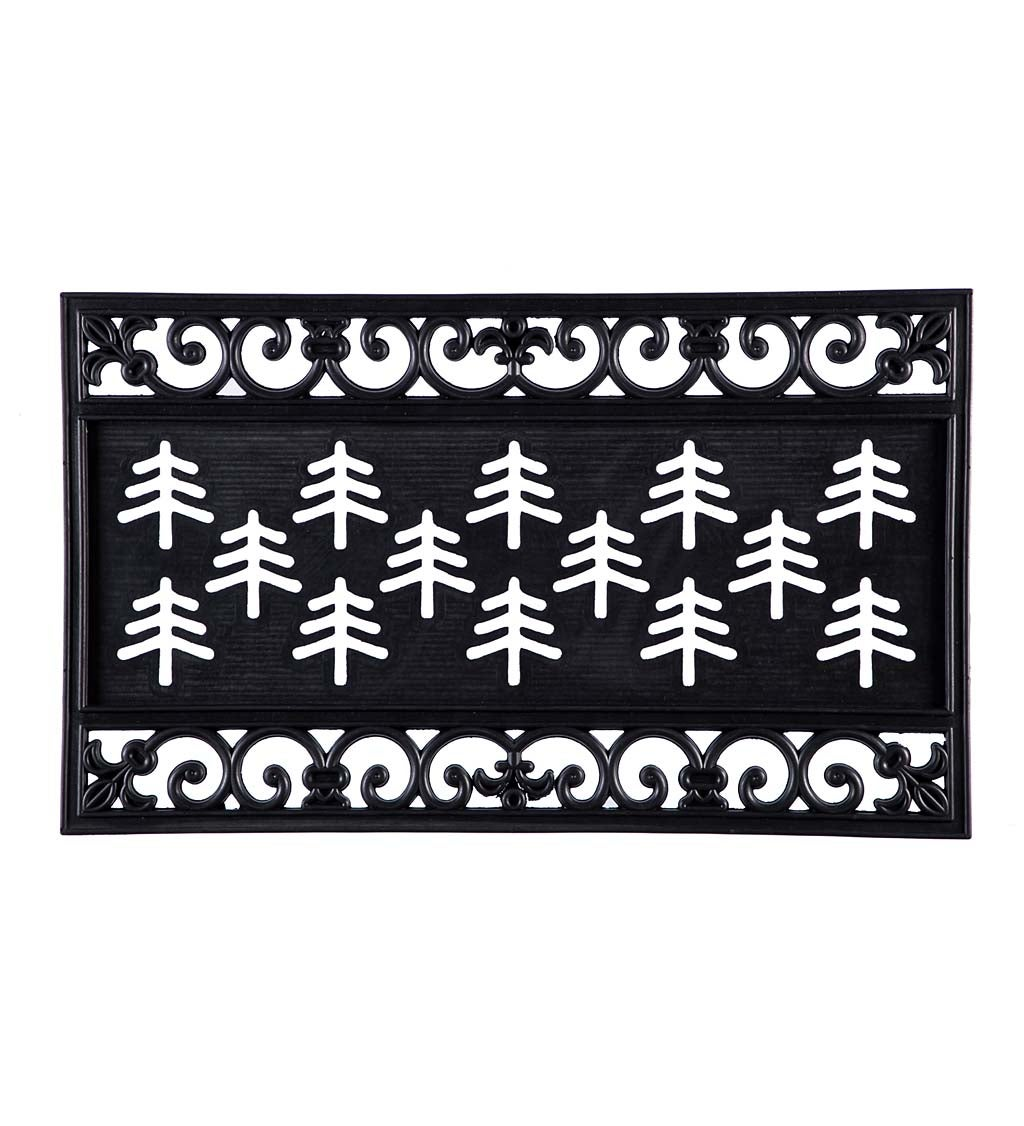 Fleur Scroll Kensington™ Coir Switch Mat Rubber Surround Tray
