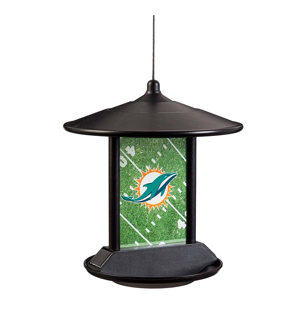Miami Dolphins Solar Bird Feeder
