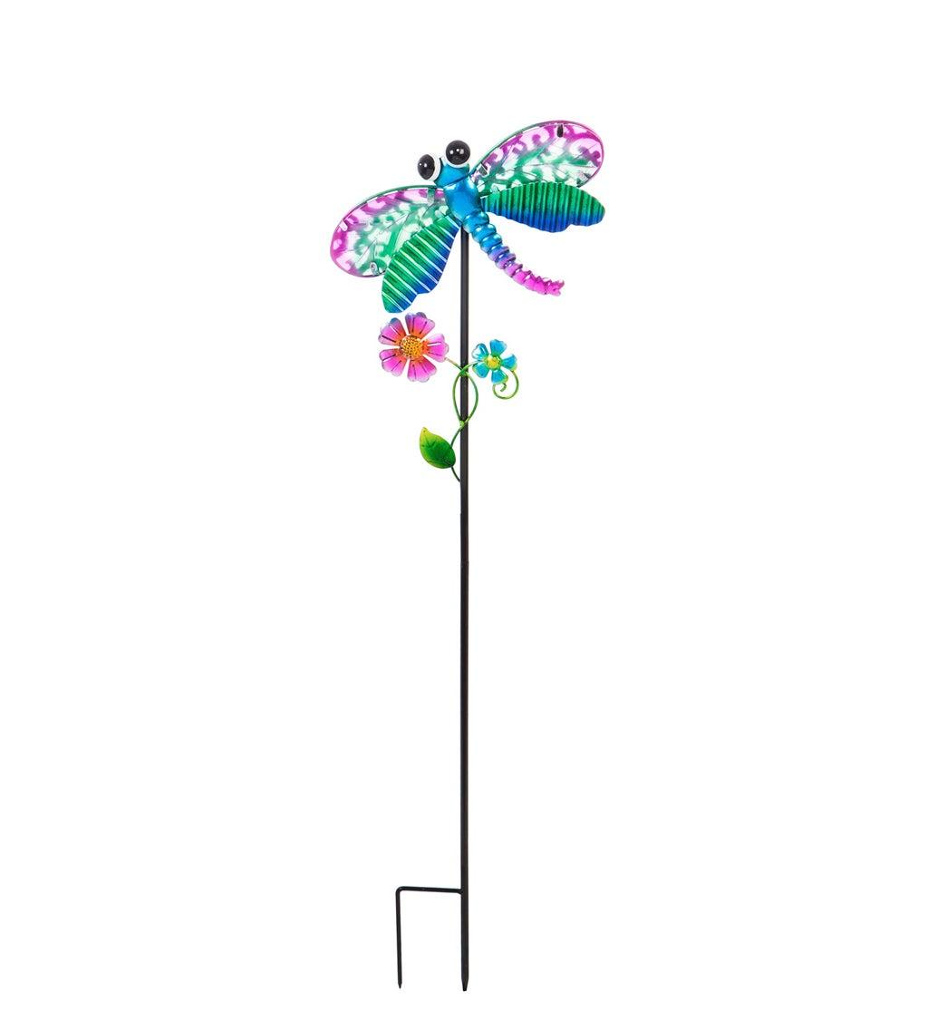 "36""H Secret Solar Garden Stakes, Dragonfly"